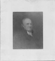 Mounted photo of Pierre Samuel du Pont de Nemours by Peale