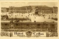 A engraving of the Hotel Crillon