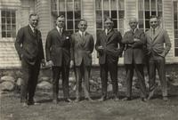 Fisher Body Corporation executives in front of the home of Fred Fisher, Cleveland, Ohio