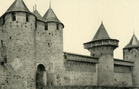 Cite de Carcassonne - Le chateau-Les fosses-Les hourds