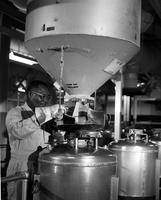 Employee at the DuPont nylon plant in Seaford, Delaware