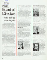 Profile - Board of Directors : Who they are, what they do [1972]