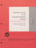 Operating Averages for the Automobile Retailing Industry, Vol. 10, No. 01-04