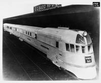 Burlington Zephyr train built by the Budd Company