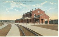 Chicago, Milwaukee & St. Paul Depot in Lewistown, Mont.