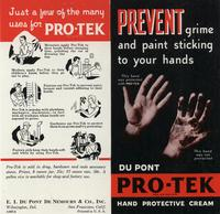 Prevent grime and paint sticking to your hands: Du Pont Pro-Tek Hand Protective Cream