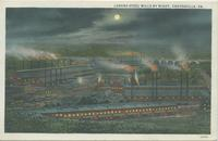 Lukens Steel Mills by night, Coatesville, Pa.
