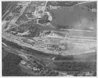 Air views of Lukens Steel Company plants