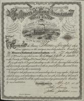 Miners National Association Certificate for Thomas Hughes