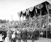 Altoona cricket field, presentation of war medals, grandstand