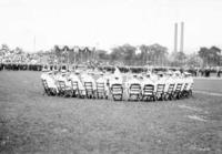 Altoona cricket field, presentation of war medals, band