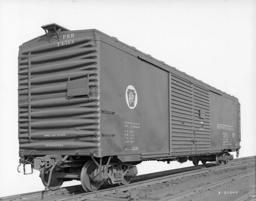 X38 box car #74513, auto parts service, 3/4 view, for 1954