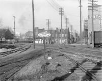 Quarryville railroad tracks in city in Lancaster, Pa.