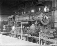 H8sb steam engine #387, on test plant, front angular view