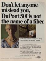 Don 't Let Anyone Mislead You, DuPont 501 Is Not the Name of a Fiber