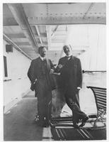 Elías Ahúja y Andría and Pierre S. du Pont on board ship during South American trip