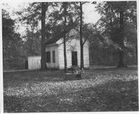 Outbuilding on Ball's Neck, Virginia, property, home of Mrs. Alfred I. du Pont