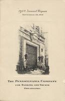 135th Annual Report of The Pennsylvania Company for Banking and Trusts