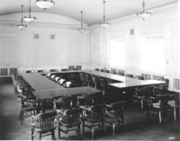 Board room and table at Chamber of Commerce building