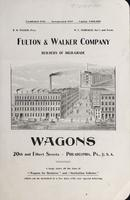 Fulton & Walker Company, Builders of High-Grade Wagons