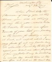 Correspondence, William Simmons to E.I. du Pont de Nemours and Company, 1809-08-24