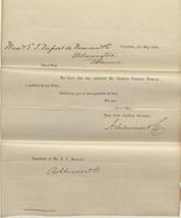 Correspondence, Ashburner and Company to E. I. du Pont de Nemours and Company, 1860-05-01