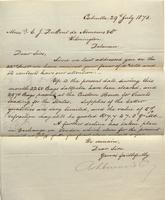 Correspondence, Ashburner and Company to E. I. du Pont de Nemours and Company, 1873-07-29
