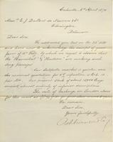 Correspondence, Ashburner and Company to E. I. du Pont de Nemours and Company, 1870-04-06