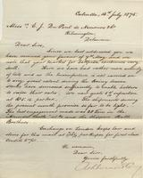 Correspondence, Ashburner and Company to E. I. du Pont de Nemours and Company, 1875-07-13