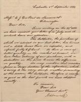 Correspondence, Ashburner and Company to E. I. du Pont de Nemours and Company, 1862-09-01