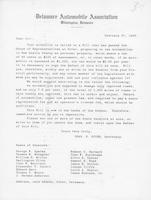 Charles G. Guyer to constituents of the Delaware Automobile Association, 1909-02-27