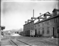Freight cars, Yorklyn Railroad, at #1 Fiber Mill