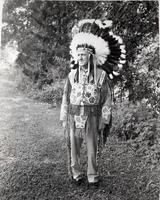 T. Clarence Marshall dressed as Indian Chief