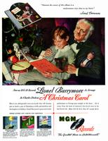Now on MGM Records Lionel Barrymore as Scrooge