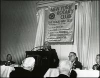 Peppiatt talk to New York Rotary Club (May 1967)