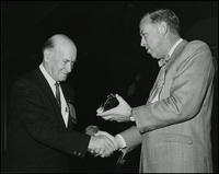Igor Sikorsky receiving Modern Pioneers Award (1965)