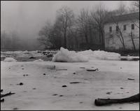 Walker's Mill with ice jam on Brandywine