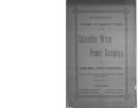 Advantages offered to manufacturers by the Columbia Water Power Company, at Columbia, South Carolina