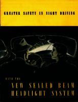 Greater safety in night driving with the new sealed beam headlight system