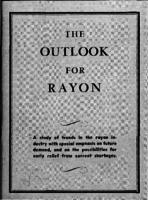 The outlook for rayon : a study prepared