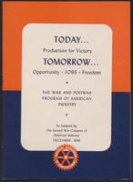 Today . . . Production for Victory, Tomorrow . . . Opportunity, Jobs, Freedom (1943)