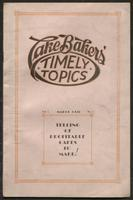 Cake bakers' timely topics : telling of profitable cakes to make!