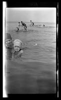 Cape May, group with children in the water