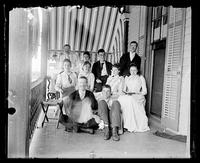 Cape May, Du Pont family and friends on the porch of No. 5 Beach Avenue