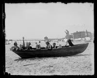 Cape May, group in a canoe on the shore