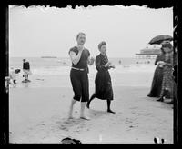 Cape May, man and woman walking on the beach