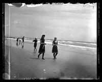 Cape May, two women walking on the beach