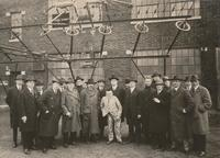 David Sarnoff conducts an Inspection Tour of RCA Transoceanic Station at New Brunswick, N.J.