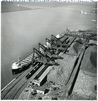 Ore unloading facility at Cleveland, Ohio