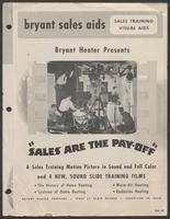 'Sales are the Payoff' pamphlet